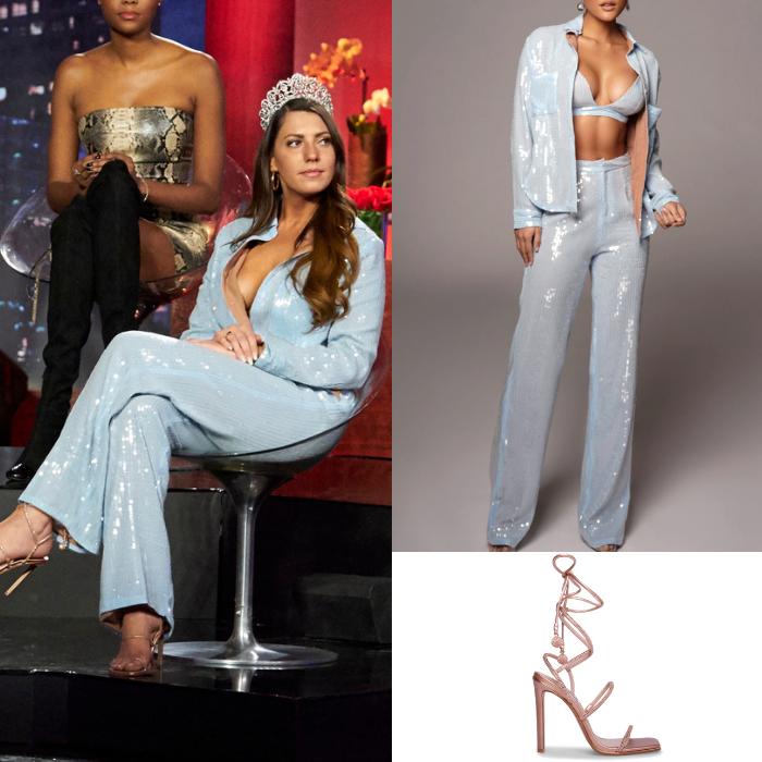 Victoria Larson's Blue Sequin Outfit