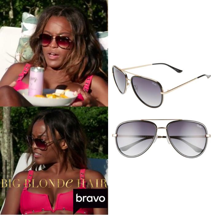 Ciara Miller's Black Aviator Sunglasses