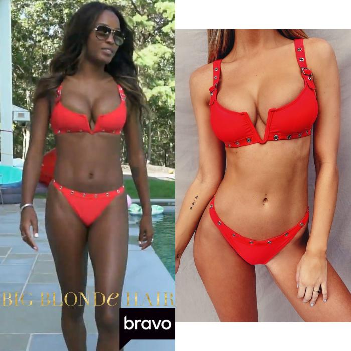 Ciara Miller's Red Grommet Bikini