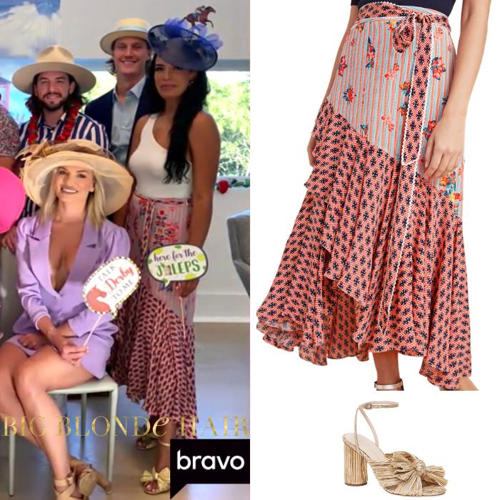 Danielle Olivera's Mixed Print Maxi Skirt