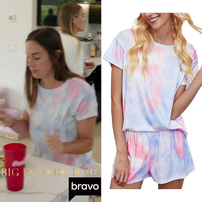 Hannah Berner's Pink and Blue Tie Dye Set
