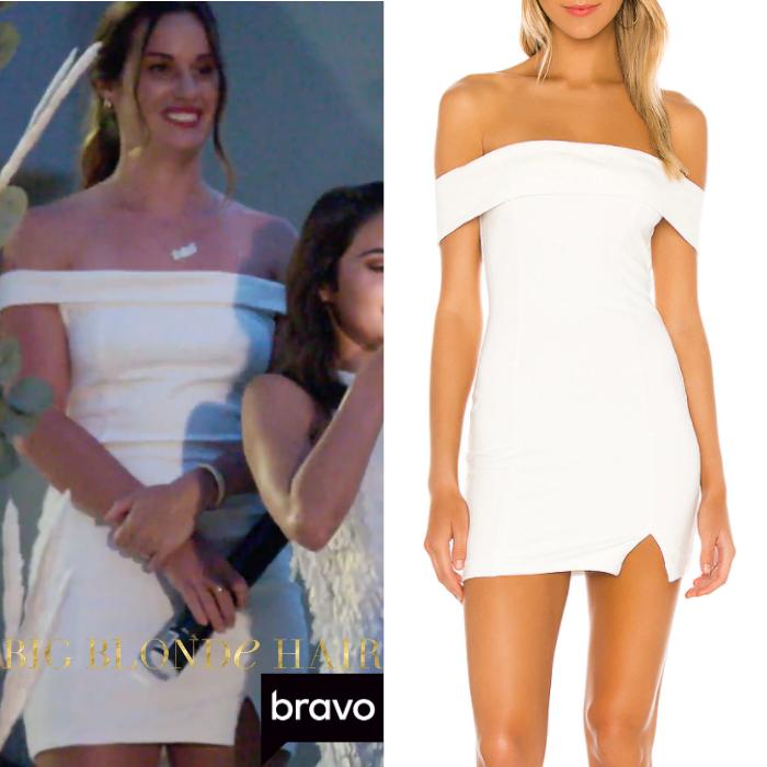Hannah Berner's White Off the Shoulder Dress