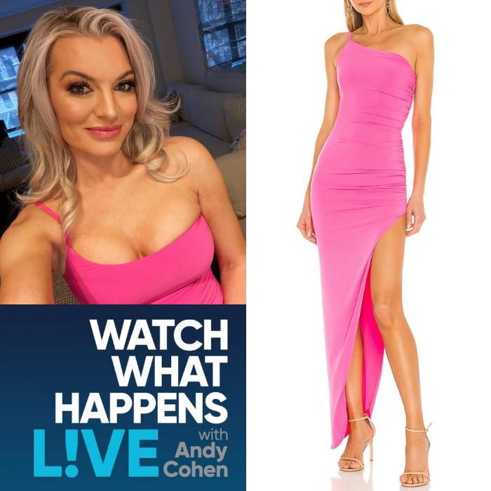Lindsay Hubbard's Pink Dress on WWHL