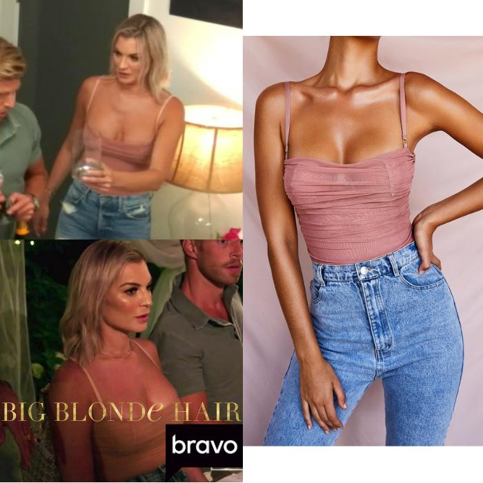 Lindsay Hubbard's Pink Ruched Bodysuit