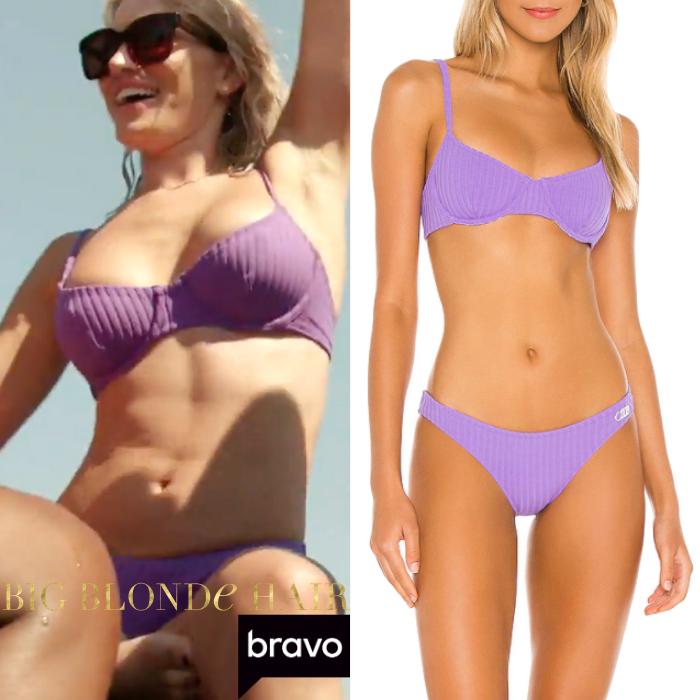 Lindsay Hubbard's Purple Ribbed Bikini