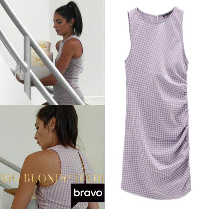 Paige DeSorbo's Purple Gingham Dress