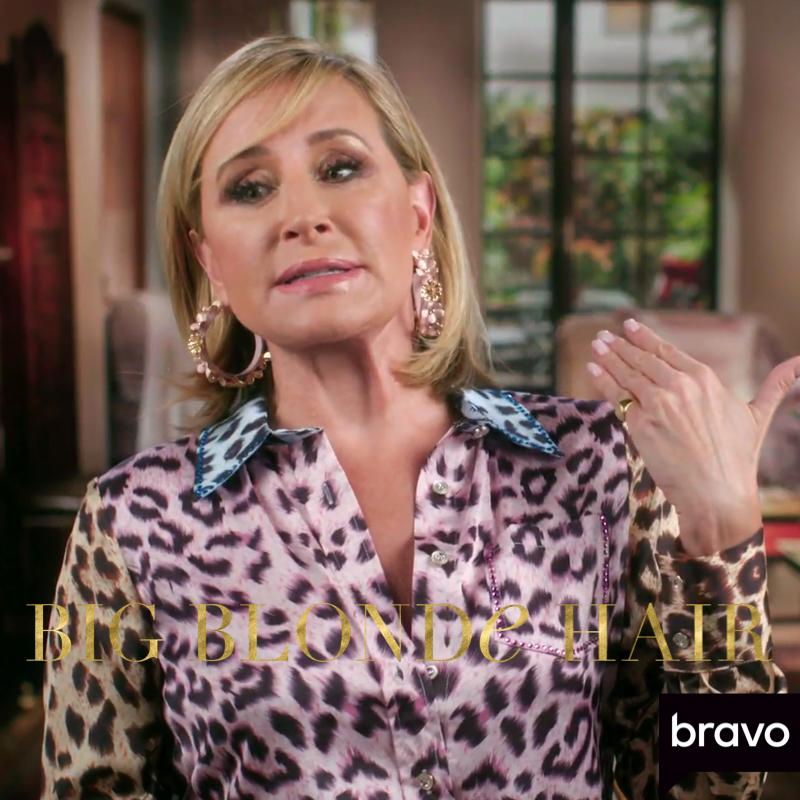 Sonja Morgan's Pastel Leopard Confessional Dress
