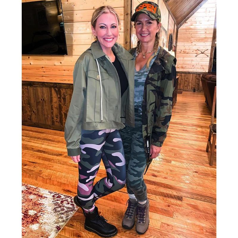 Stephanie Hollman's Green Military Jacket