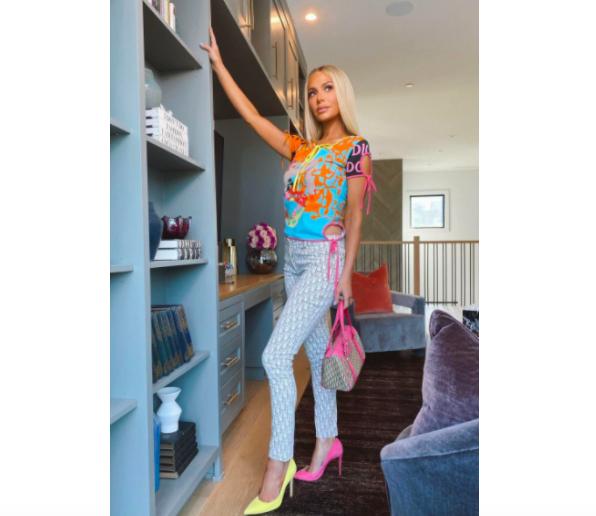 Dorit Kemsley's Mixed Dior Print Outfit