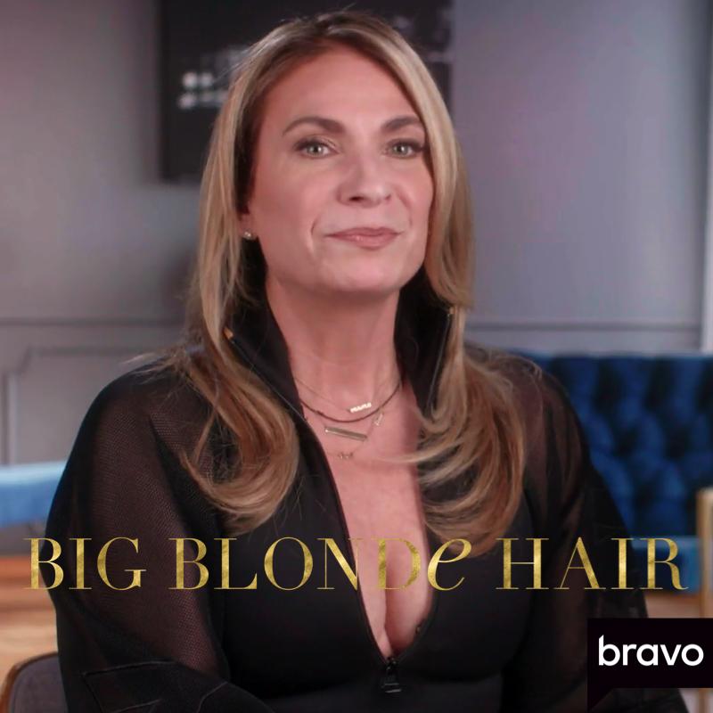 Heather Thomson's Black Mesh Sleeve Confessional Bodysuit