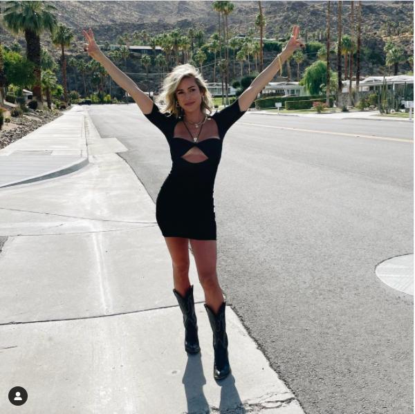 Kristin Cavallari's Black Cut Out Twist Dress