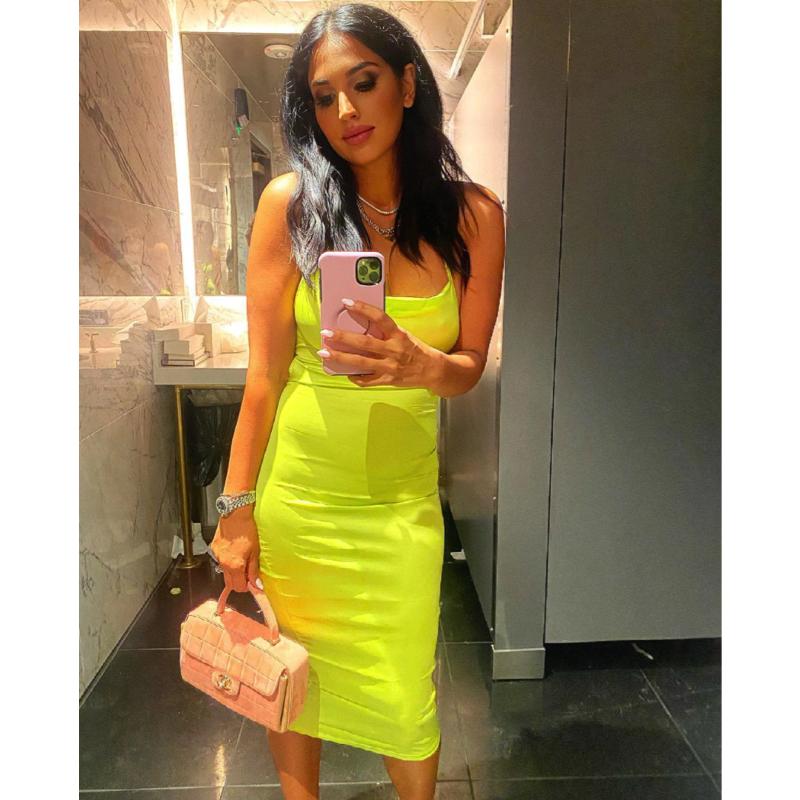 Leva Bonaparte's Neon Yellow Dress