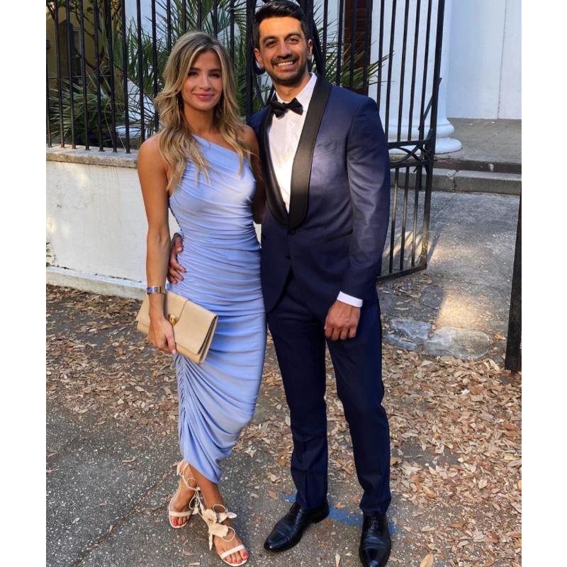 Naomie Olindo's Blue Ruched Dress