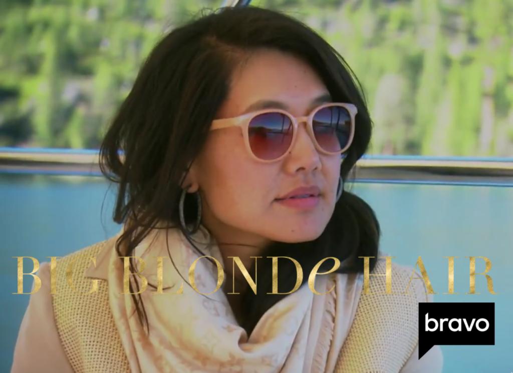 Crystal Kung Minkoff's Beige Round Sunglasses