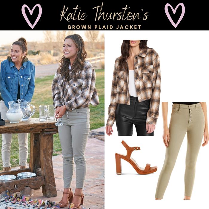 Katie Thurston's Brown Plaid Jacket