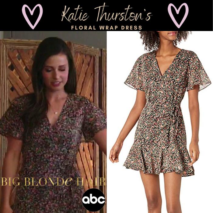 Katie Thurston's Floral Wrap Dress