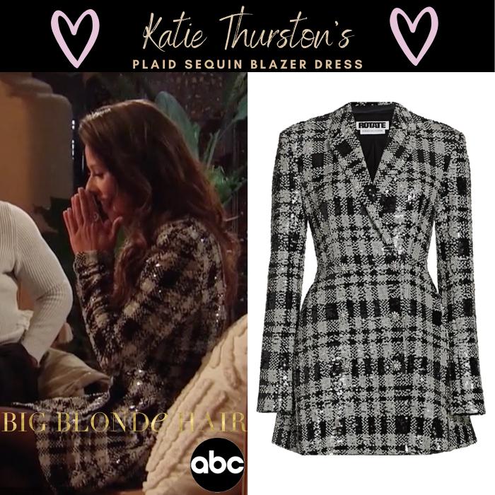 Katie Thurston's Plaid Sequin Blazer Dress