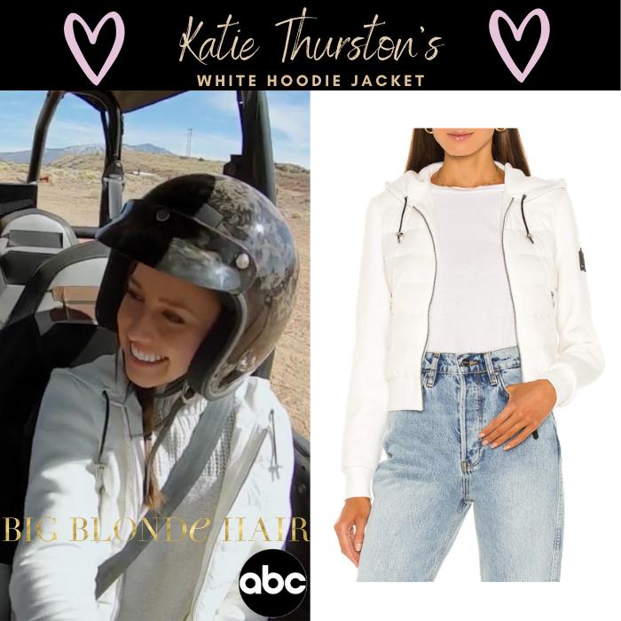 Katie Thurston's White Hoodie Jacket