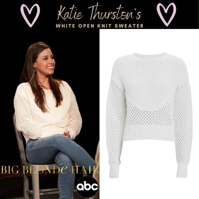 Katie Thurston's White Open Knit Sweater