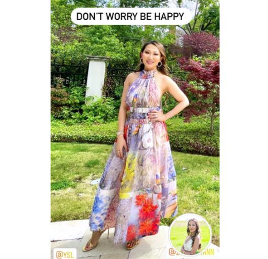 Tiffany Moon's Floral Halter Dress