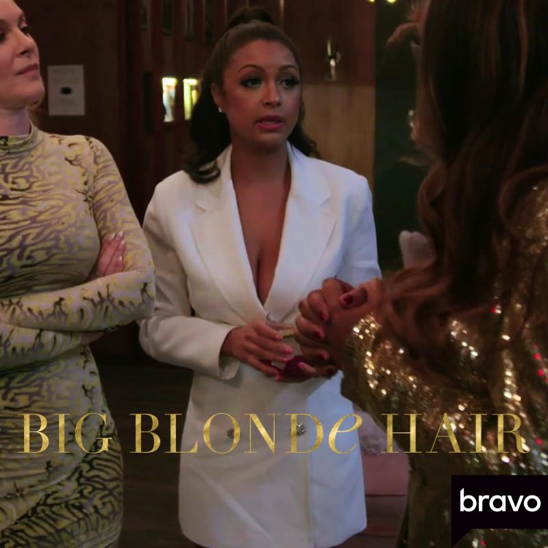Eboni K. Williams' White Blazer Dress