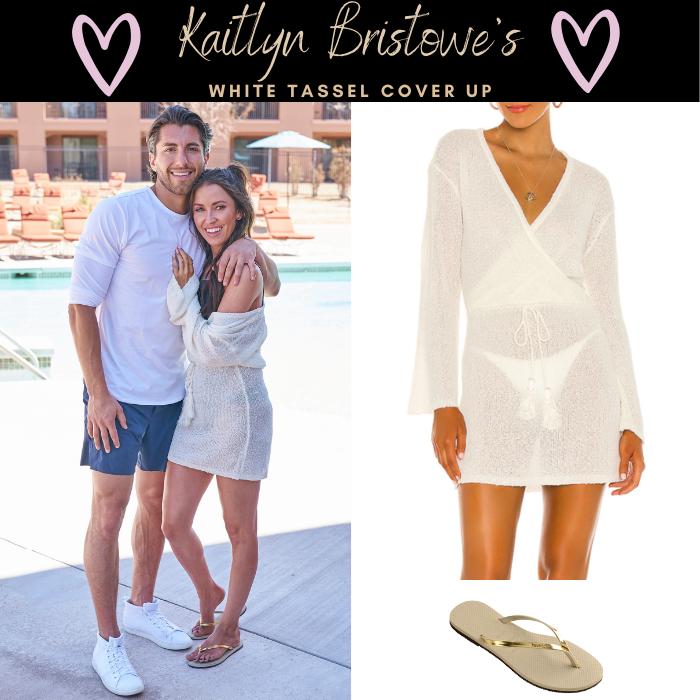 Kaitlyn Bristowe's White Tassel Cover Up
