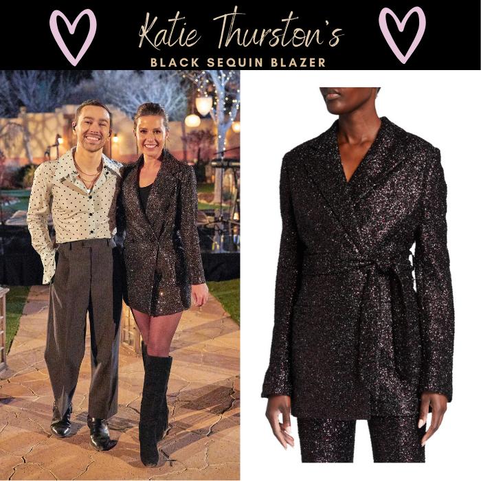 Katie Thurston's Black Sequin Blazer