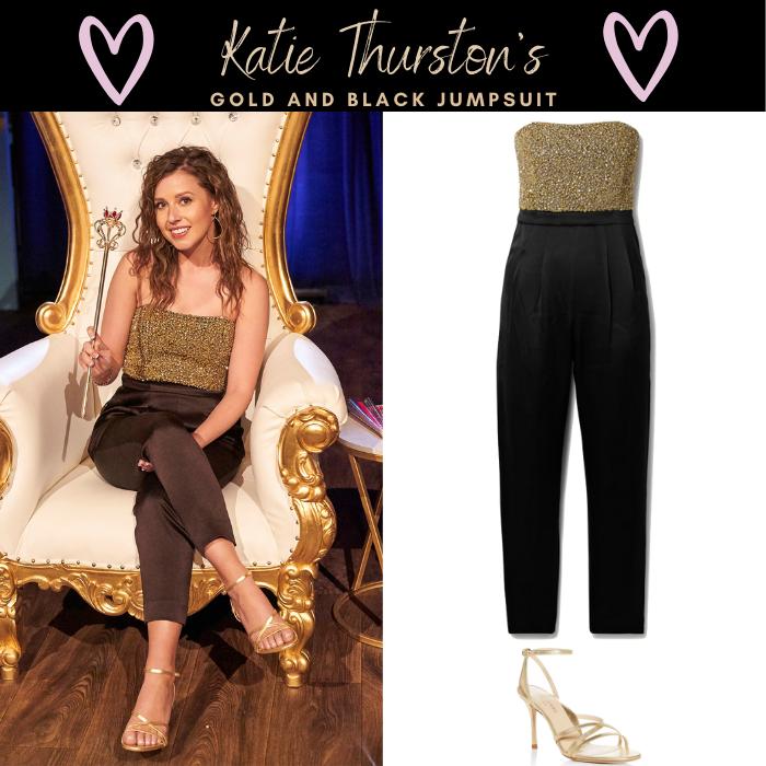 Katie Thurston's Gold and Black Jumpsuit