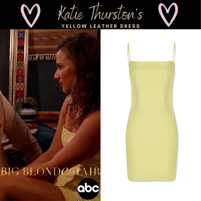 Katie Thurston's Yellow Leather Dress