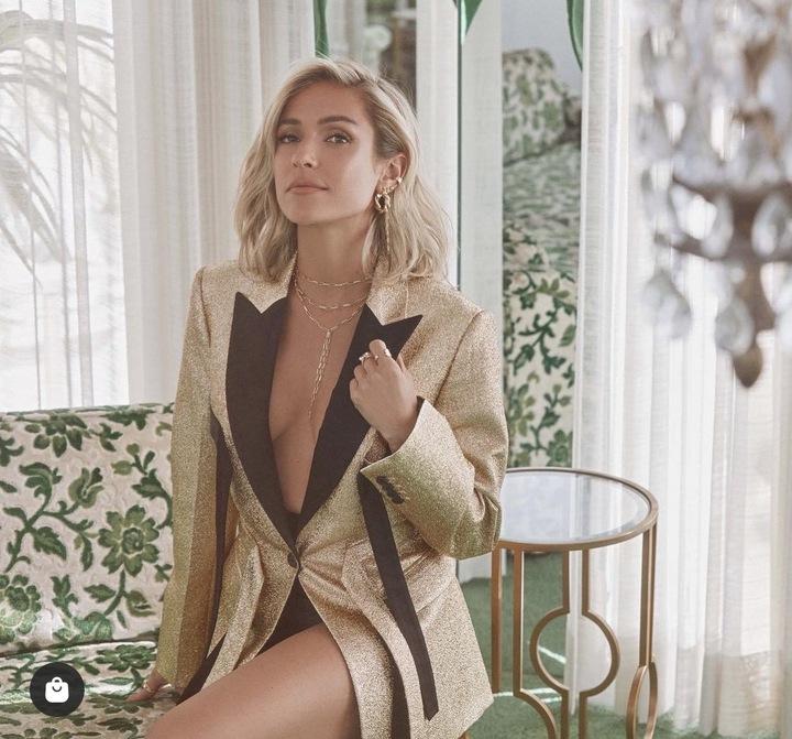 Kristin Cavallari's Gold Blazer
