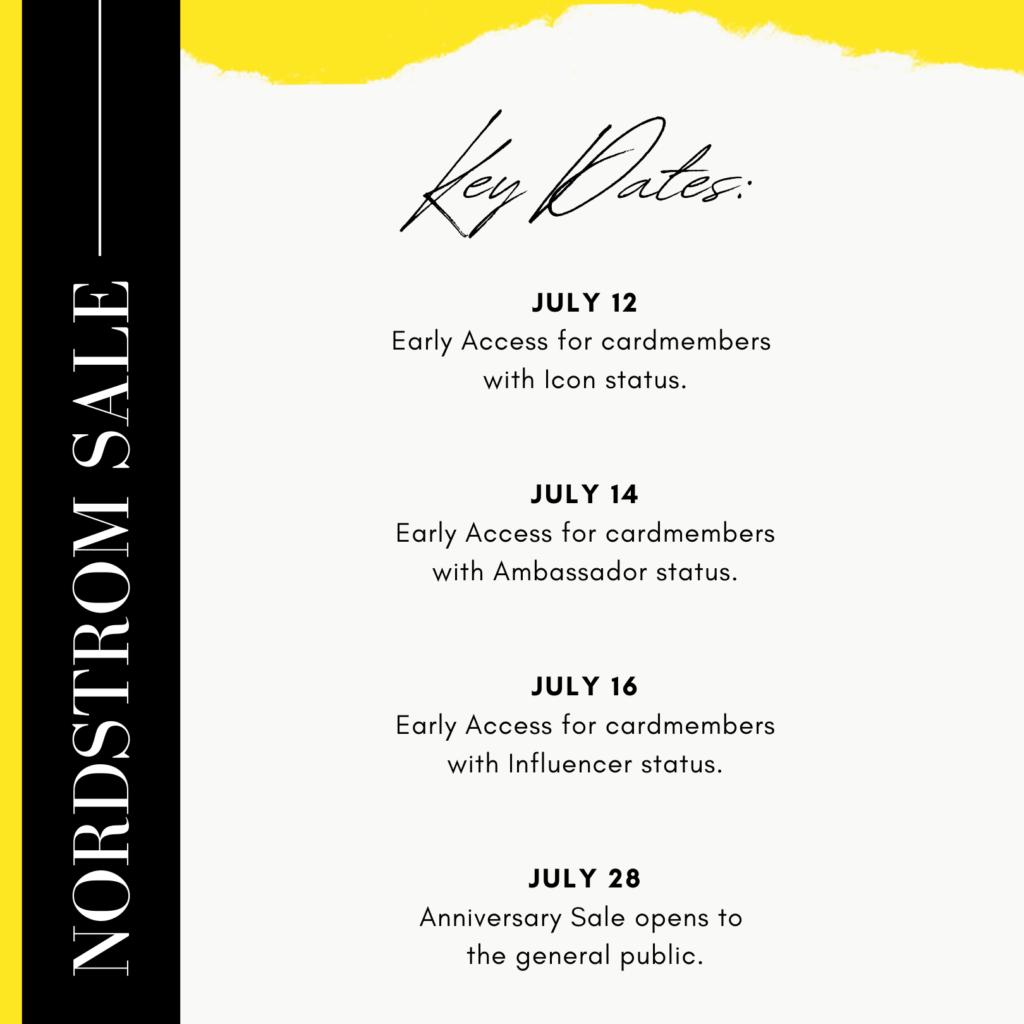 Nordstrom Anniversary Sale 2021 Key Dates