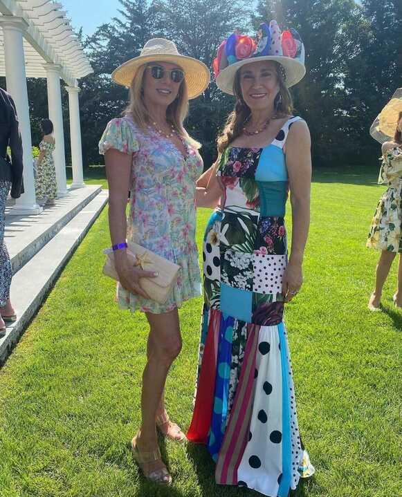 Ramona Singer's Floral Ruffle Mini Dress