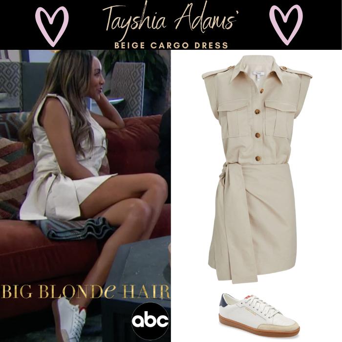 Tayshia Adams' Beige Cargo Dress