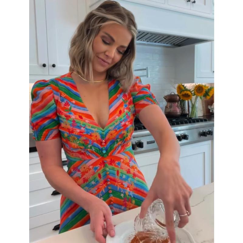 Ariana Madix's Rainbow Striped Dress