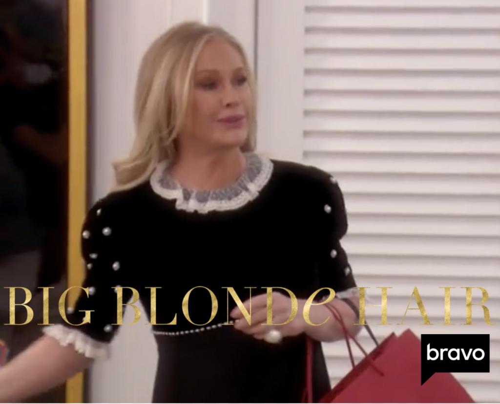 Kathy Hilton's Black Pearl Embellished Dress