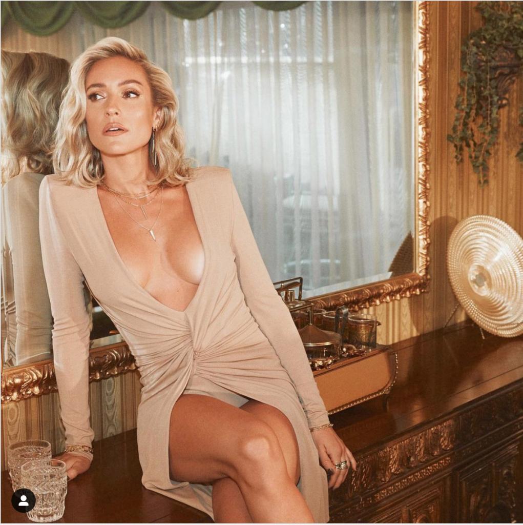 Kristin Cavallari's Nude Twist Front Dress