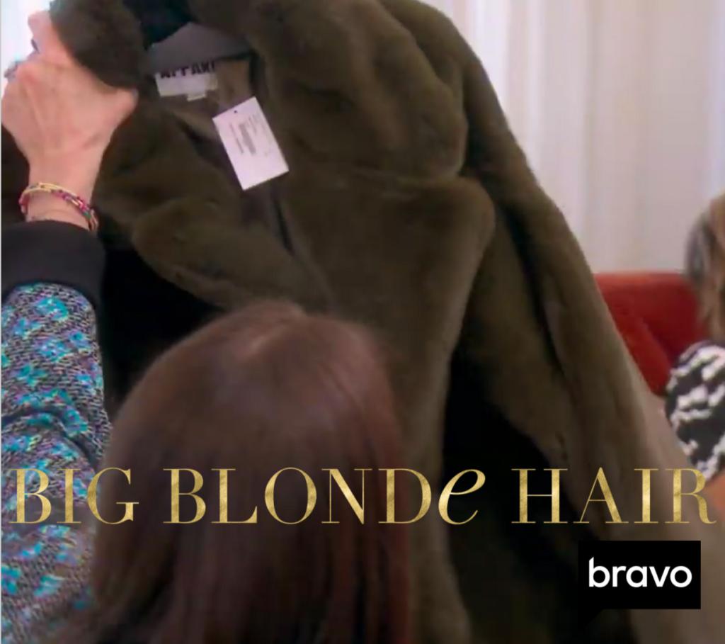 Kyle Richards' Brown Fur Coat From Erika and Lisa