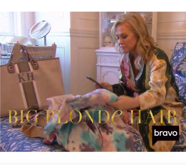 Kathy Hilton's Monogrammed Tote Bag